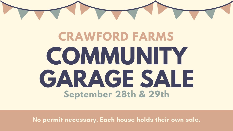 Fall Community Garage Sale — Crawford Farms HOA