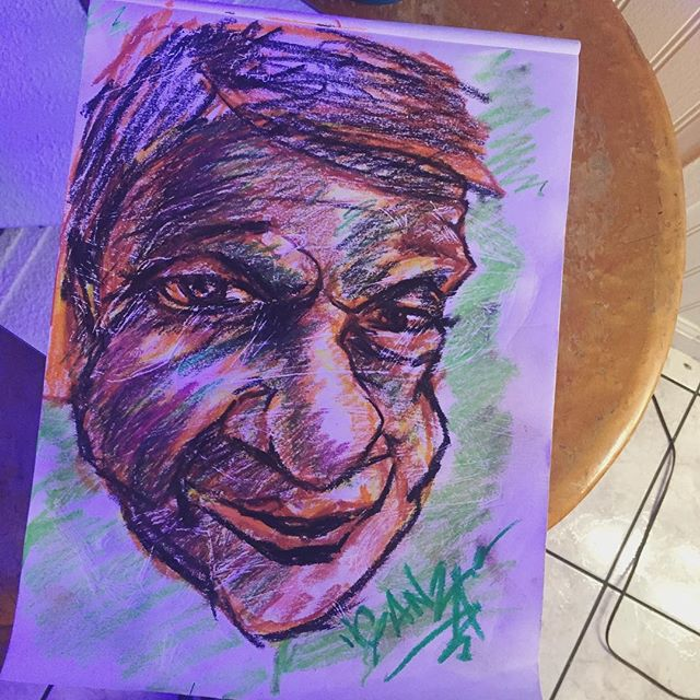 Tonight's 99ct. Store #oilpastel bust, in poor lighting !! lol #ganzaart #sketchbook #art