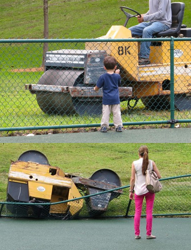 Heavy Machinery around kids could have been tragic.  photo courtesy of New Times