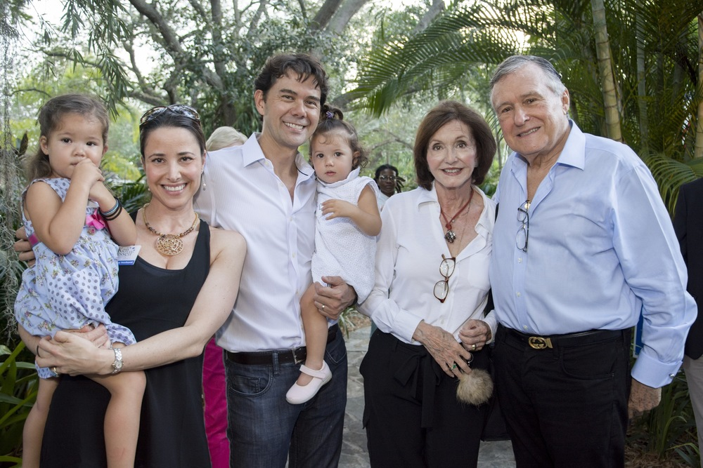 The Russell and Ferre Families: (Left to Right) Julia, Juliana, Ken, and Eva Russell.  Mercedes and Maurice Ferre.