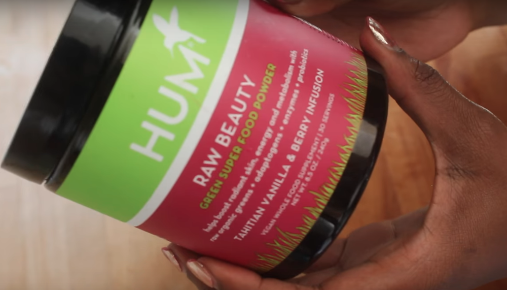 The Raw Beauty Green SuperFood Powder from HUM Nutrition has a TON of nutrients for clear skin, shop  here.