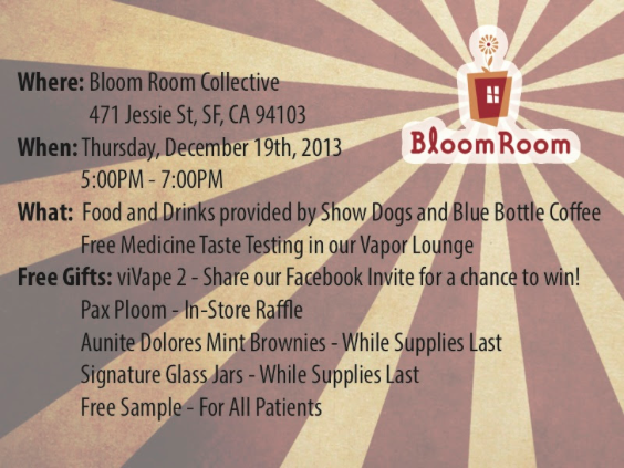 Whats Happening at Bloom Room on December 19th
