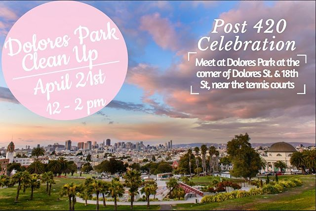 420 is on a Saturday this year!! Dolores Park is going to be packed! Help give back to your community by helping to clean up Dolores Park, Sunday, the day after 420 12-2pm. ✨💕 #bloomlove #bloomroomsf #420 #420forever #dolorespark #sanfrancisco