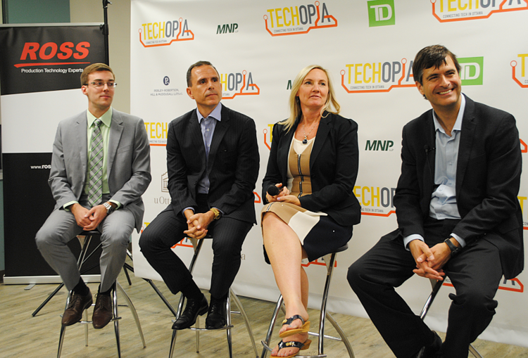 Photo from a recent Techopia on Tour with Ross Video CEO David Ross and Techopia's partners.