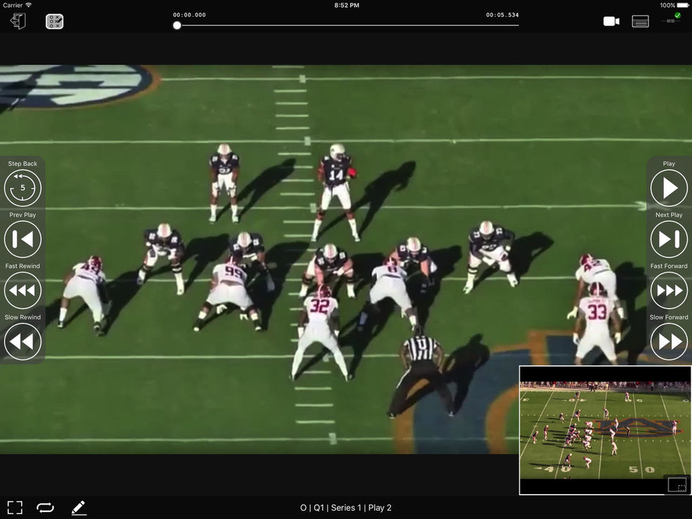 GameStrat's instant-replay with picture-in-picture.