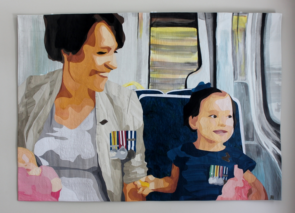 On the Train, Anzac Day 2014 , 2014