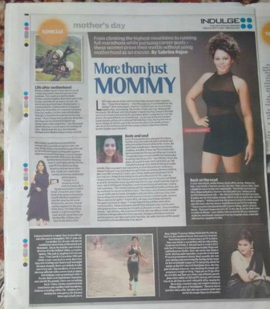 Article in Indian Express   http://www.indulgexpress.com/culture/cover-story/2017/may/12/more-than-just-mommy-celebrating-life-after-motherhood-1470.html