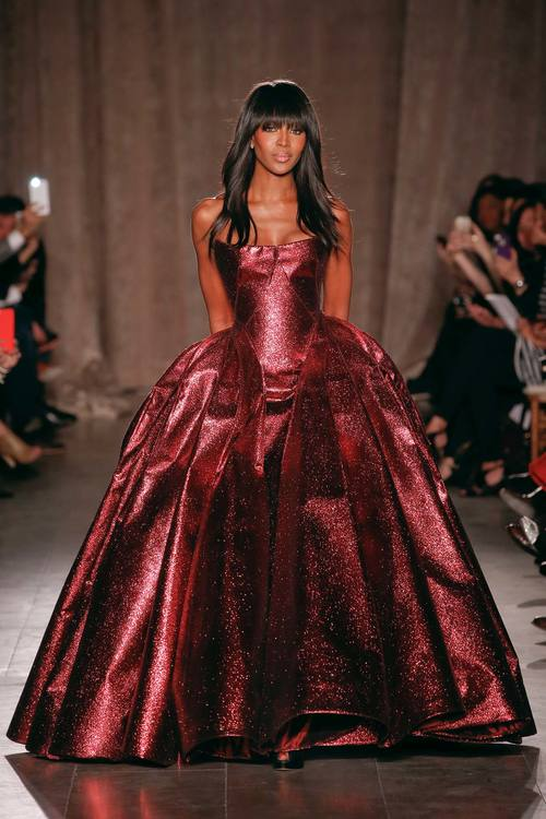 Naomi Campbell in Zac Posen A/W 2015