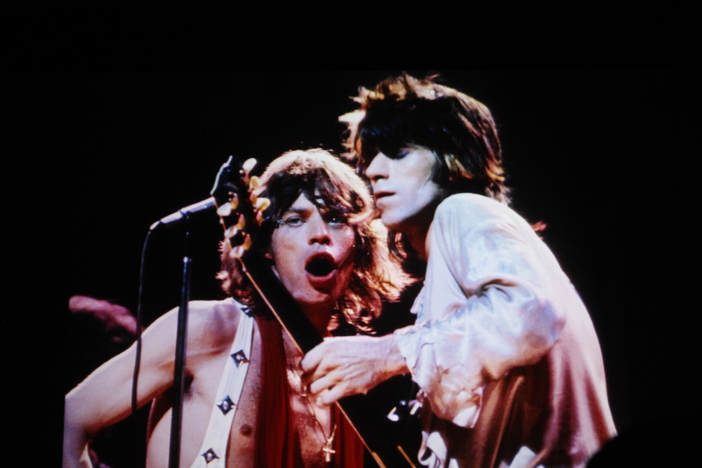 Mick Jagger & Keith Richards of the Rolling Stones. 1972. Shot by photographer Bob Gruen.
