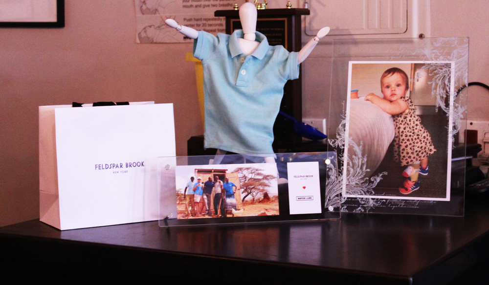 WATERisLIFE and Mia's Little Leg, Big Adventure on display with Feldspar Brook and #ThePerfectPolo at Benson's NYC.