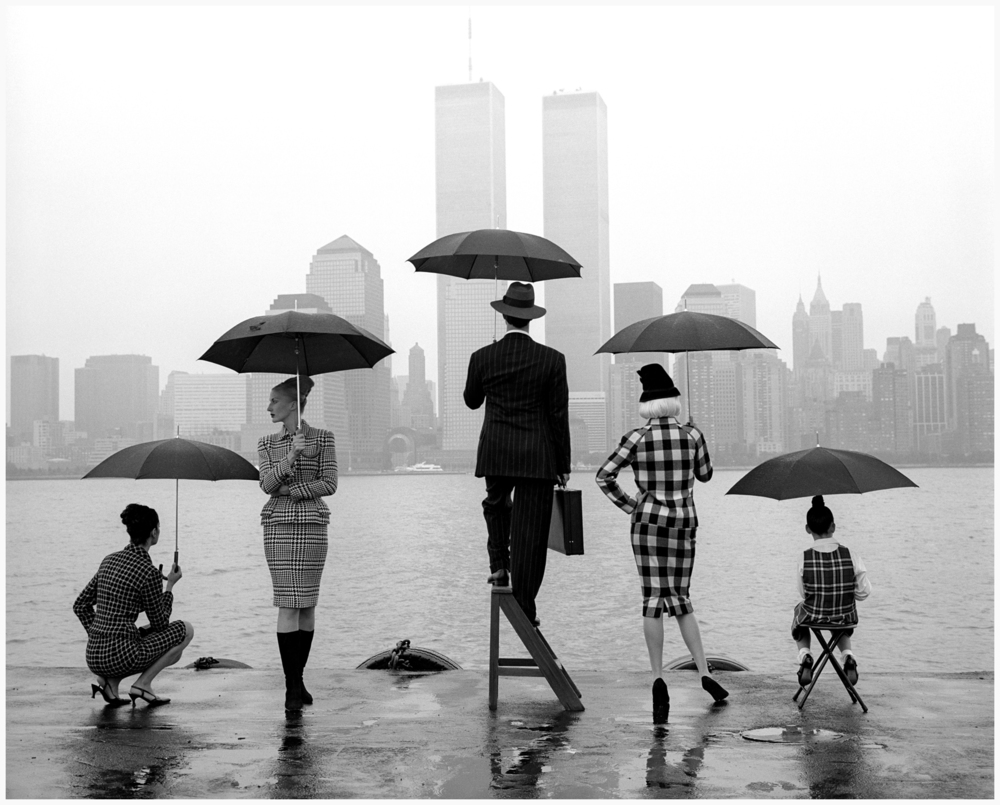 NYFW is business as usual, but on this day, none of us will ever forget. Photo by: Rodney Smith 1992.