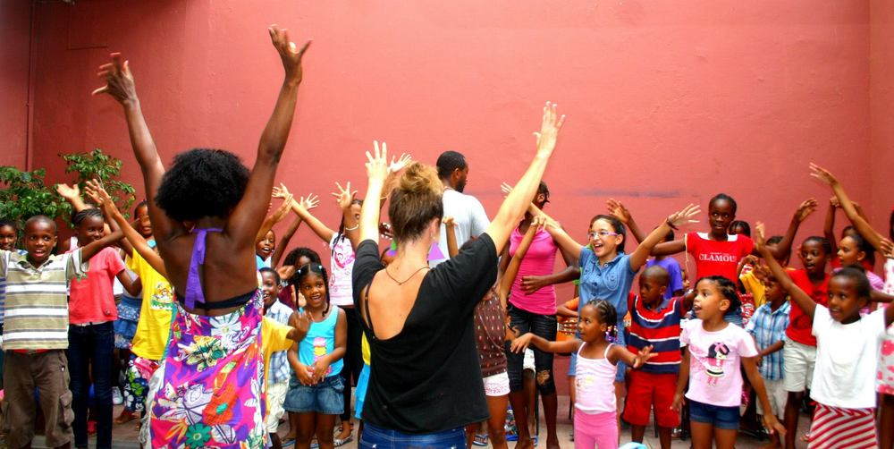 Community dance in Cabo Verde