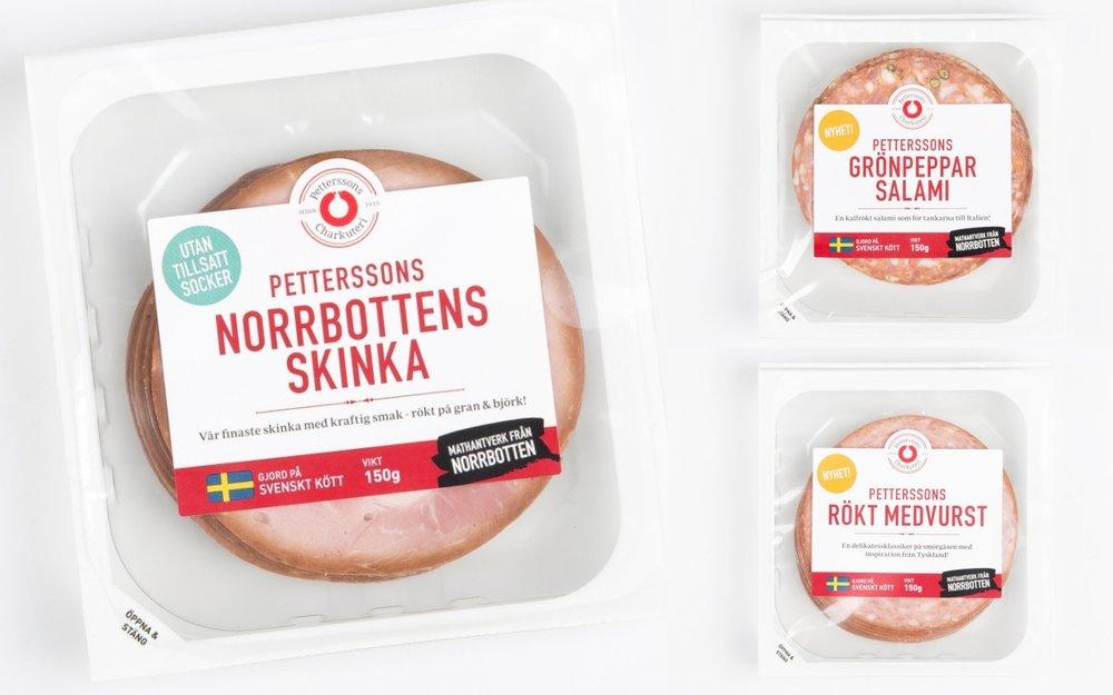 Petterssons Chark med helt nya förpackningar som förlänger hållbarheten och ger en snygg look.