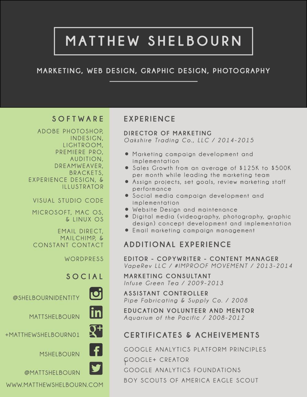 Matt's Resume Page 2