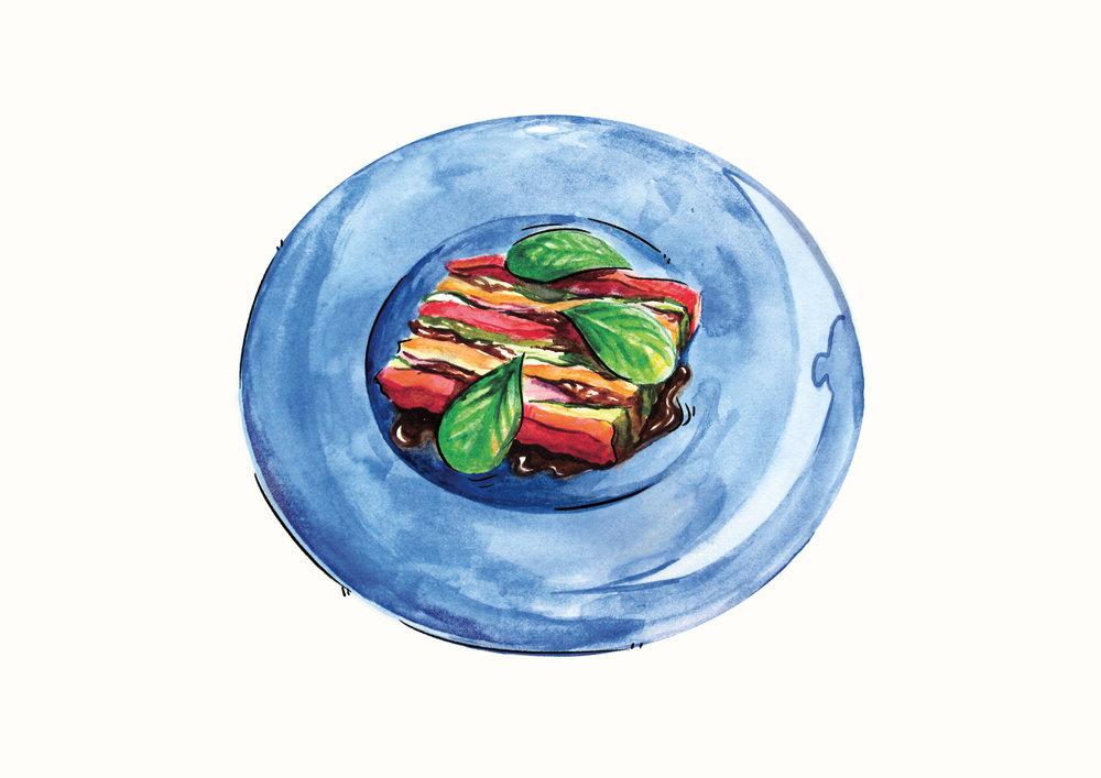 Terrina de verduras asadas