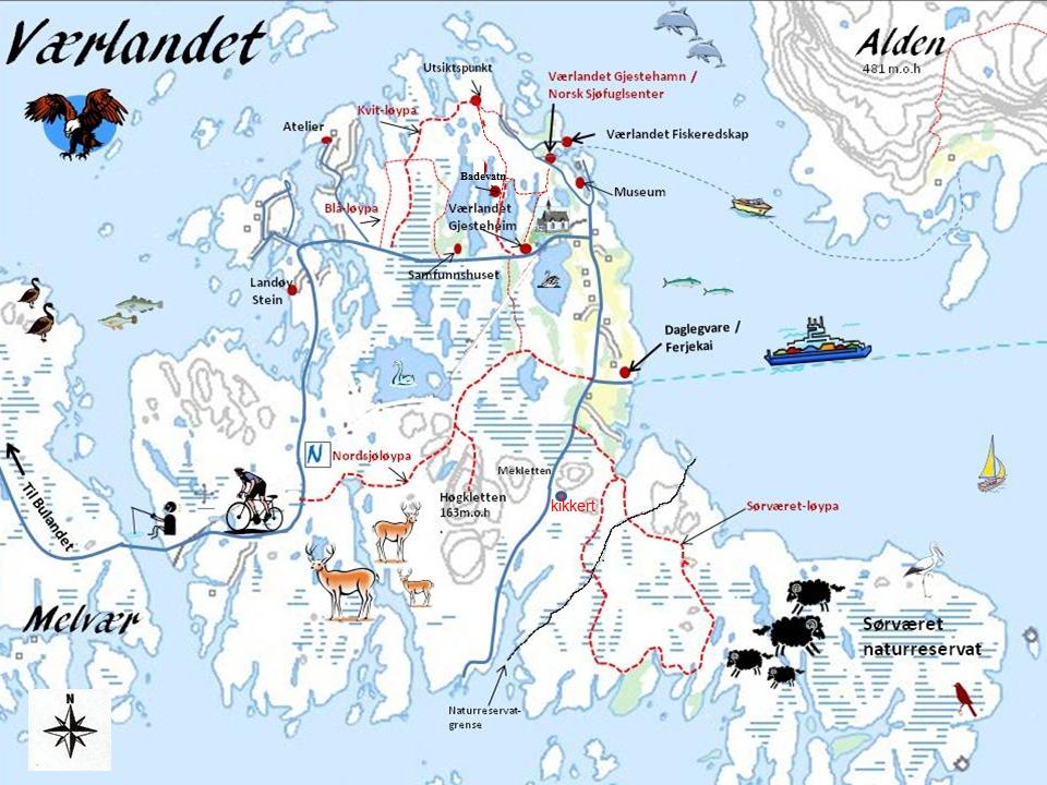 bulandet kart Kart — Bulandet Værlandet bulandet kart