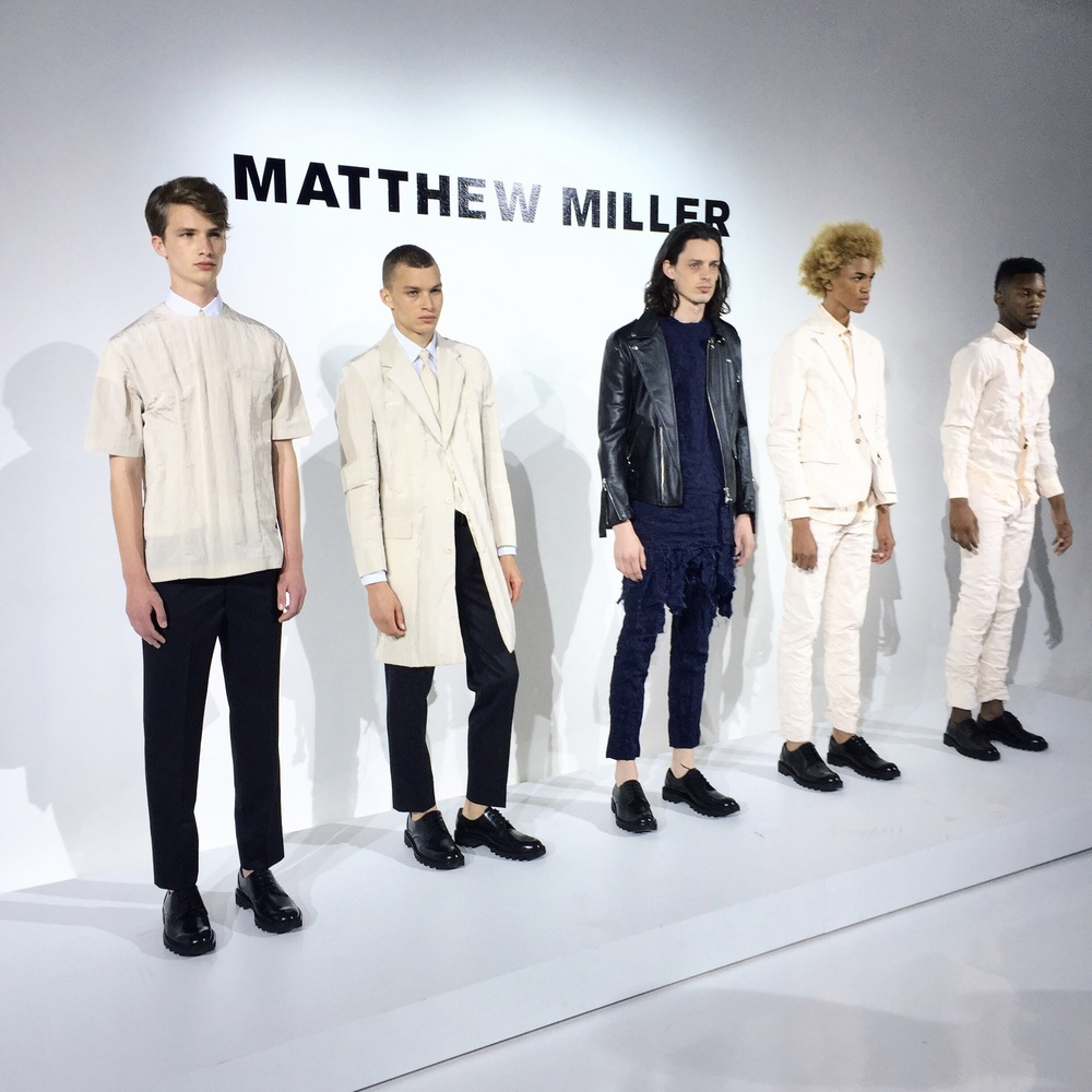 Matthew Miller S/S 16 Collection was disruptively balanced - capturing nonconformity with the use of luxury garments.