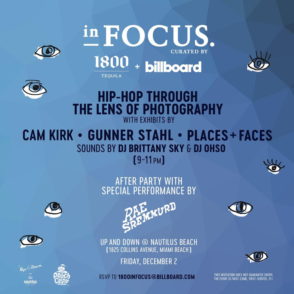 The exhibition will showcase original photography from renown hip-hop photographers and homies of myself and possibly you, Cam Kirk, Gunner Stahl and Places + Faces. The galleries will include original portraits and images from their personal collections of hip-hop-focused photos. Send RSVP to e-mail on flyer.