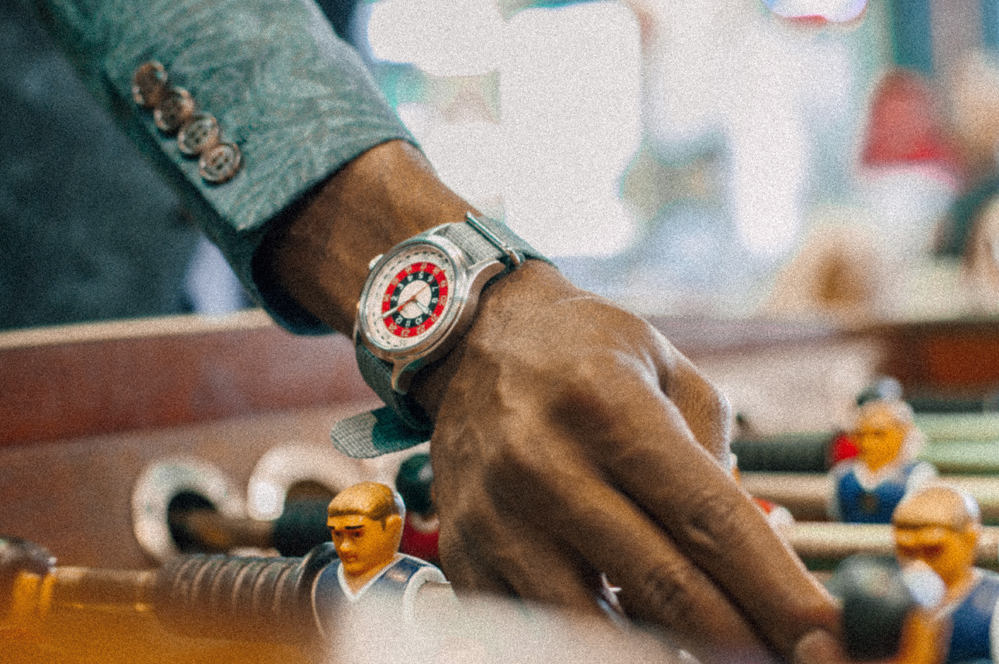The canvas wristband is perfect for casual day-to-days. -