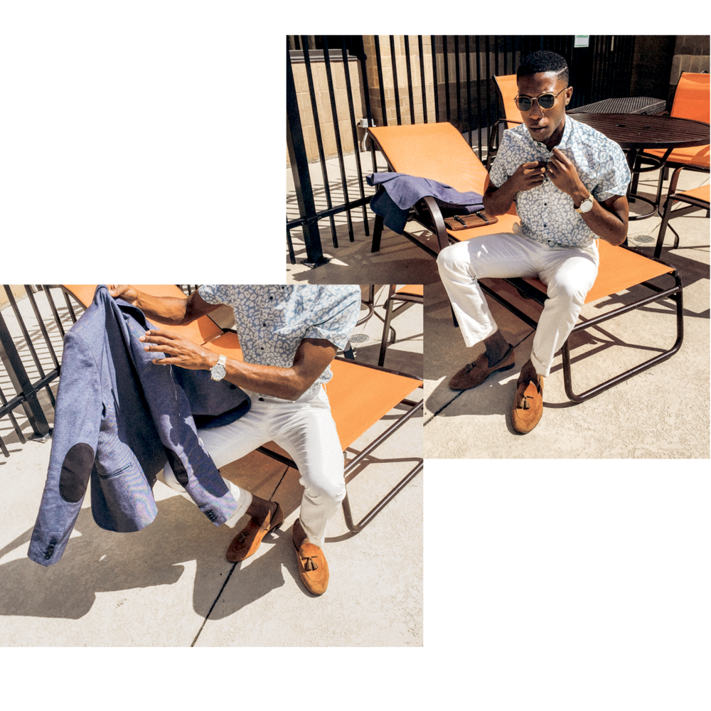 - Summer days in the south are no games! Now is the time for short sleeve shirts under the blazer. Stick to linens and light cotton if you must suit up in the scorching heat.