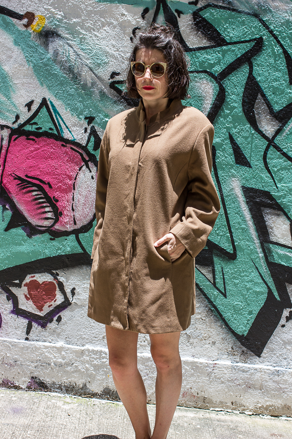 Vintage Camel Wool Coat