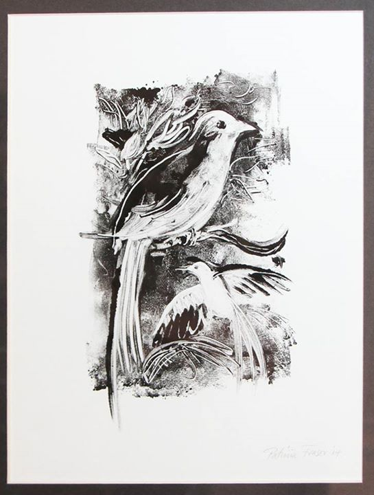 Forest Birds   Monotype   22,5 x 18cm
