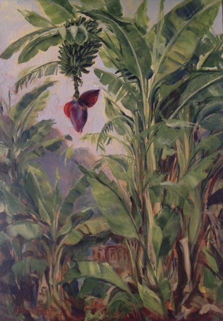 Temple Fruits   Acrylic on Canvas   70 x 50cm