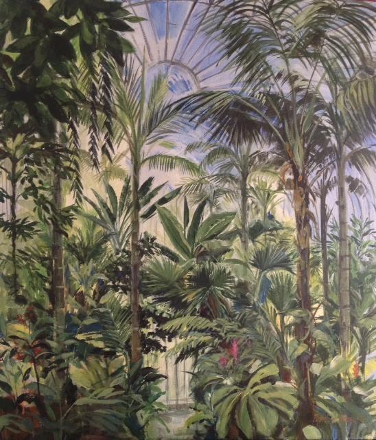 The Palm House at Kew Garden   Acrylic on Canvas   90 x 80cm
