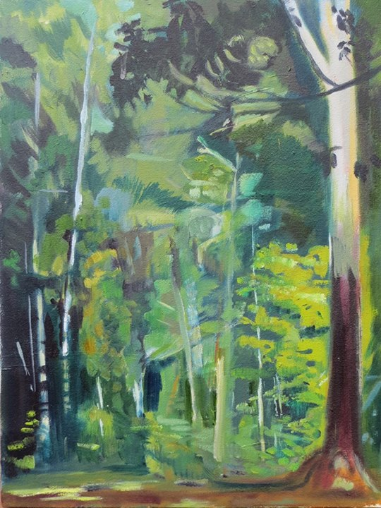 'The Arboretum'   signed with the monogram   oil on canvas   54 by 40cm