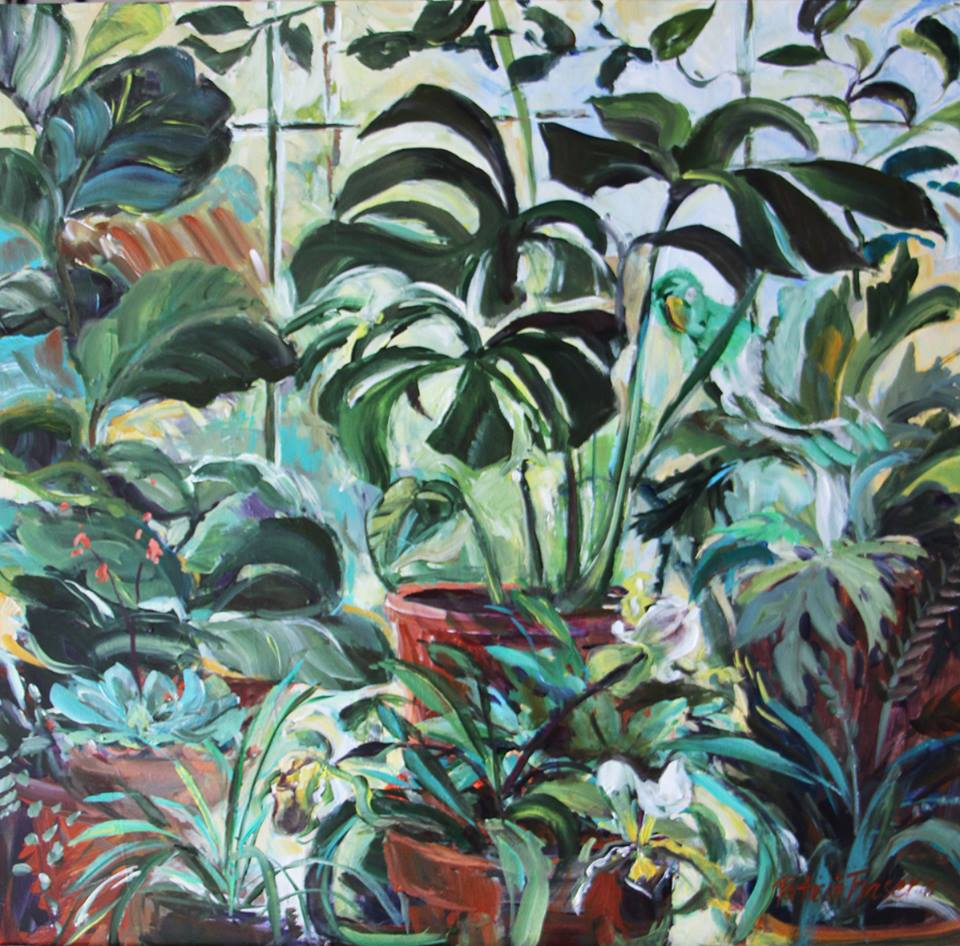 'The Glasshouse, Montebello'   Acrylic on Board   50 x 50 cm   R 4 800   SOLD