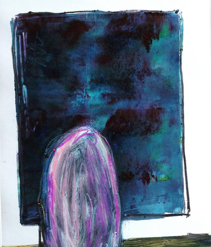 'Purple Rinse'   Monotype   297 x 420 mm R 3 200  SOLD