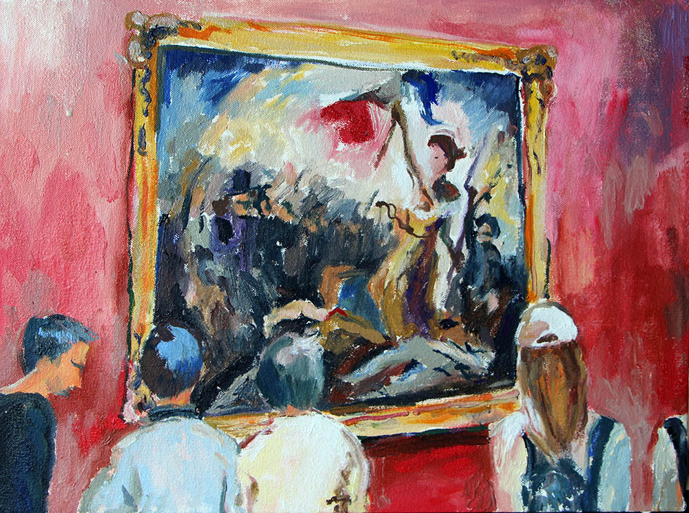 'Liberty Leading All the People, Louvre'   Oil on Canvas   400 x 300 mm R 6 200  SOLD