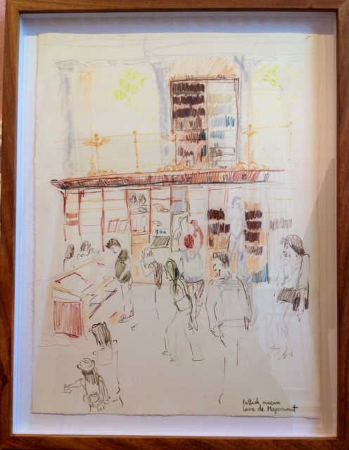 'British Museum Gallery II'   Pencil Crayon & Watercolour   380 x 290 mm R 2 800 SOLD
