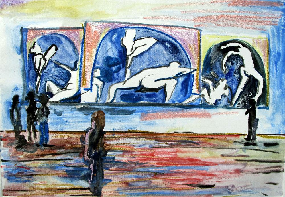 'Matisse, Dancers'   Monotype 300  x 400 mm Unframed R 2 800 SOLD