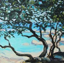 'Milkwoods, Camps Bay #2' Acrylic on Board 30 x 30cm R 2 600 SOLD