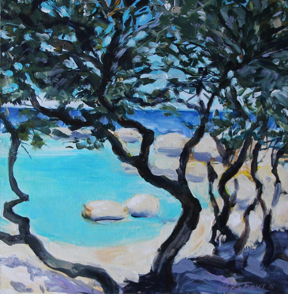 'Milkwoods, Camps Bay #1' Acrylic on Board 30 x 30 cm R 2 600 SOLD