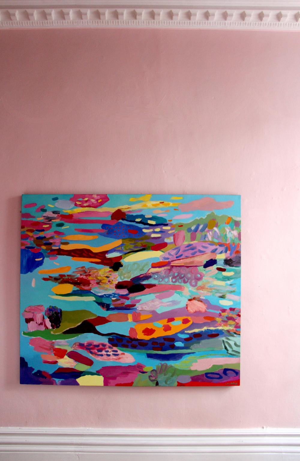 Cathy Layzell  Polynesia  Oil on Canvas 150 x 131 cm R 32 000 SOLD