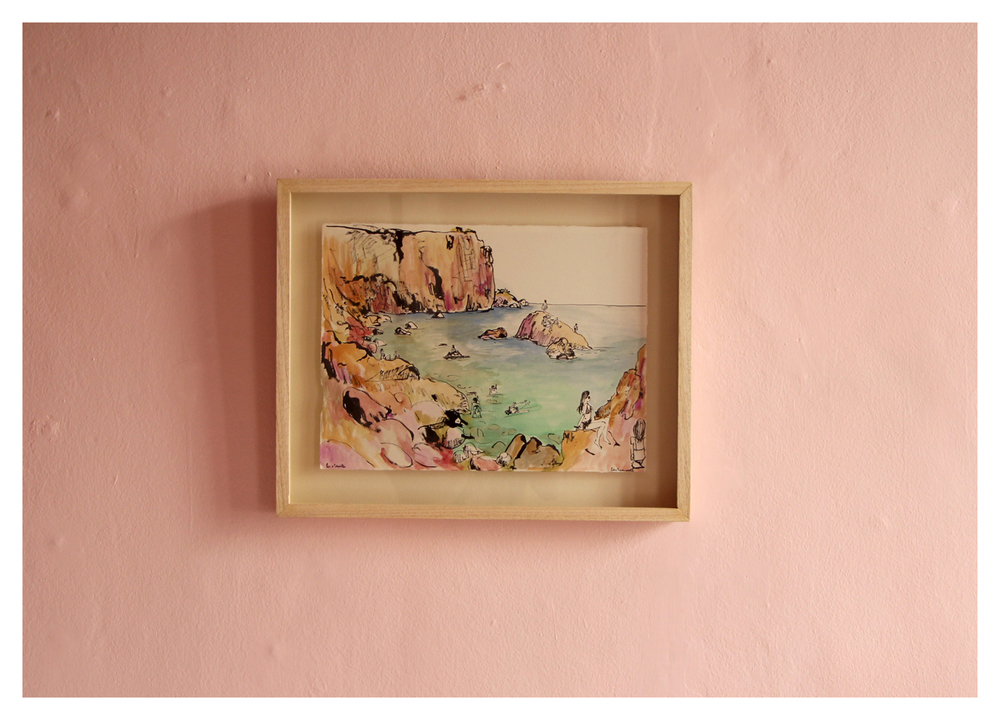 Lucie de Moyencourt  Les Mouettes  Ink and Watercolour 38,5 x 47 cm R 3 400 SOLD