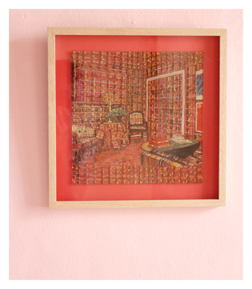 Ludwich Olivier  Bachelor's Plaid  Mixed Media 36 x 36 cm R 4 200 SOLD