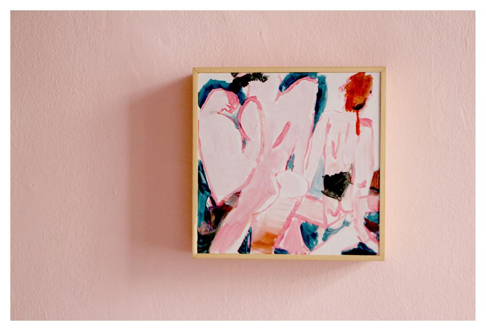 Michael Taylor    Bounce back    Acrylic on Board   20 x 20cm   R 8 900