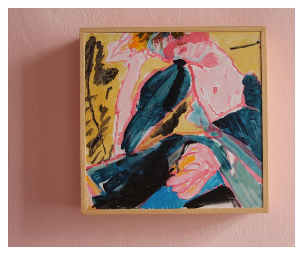 Michael Taylor  Dizzy Spell  Acrylic on Board 200 x 200 mm R 8 900.00