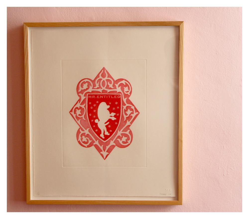 Brett Murray    Mr & Mrs Entitled  6/20   Aquatint on Somerset Textured Soft White 300gsm   51,5 x 44,5 cm   R 10 925
