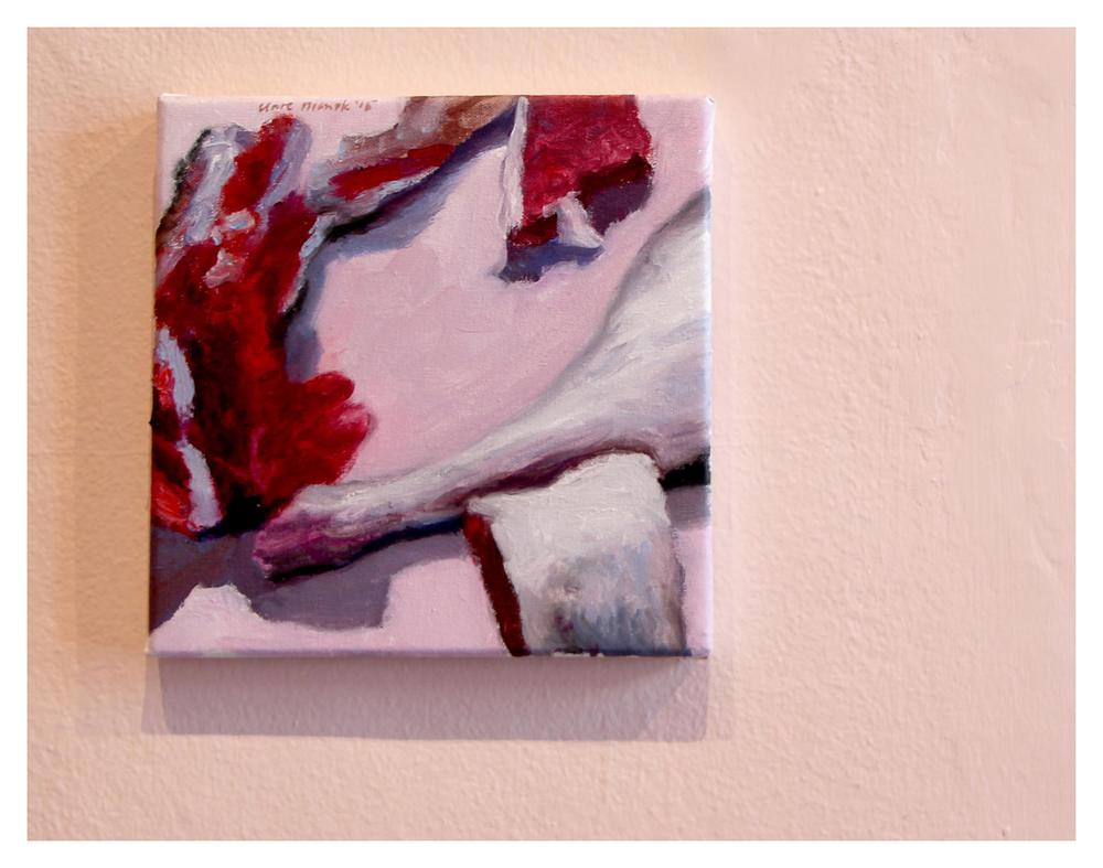 Clare Menck    Ode to Flesh    Oil on canvas   20 x 20 cm   R 9 000
