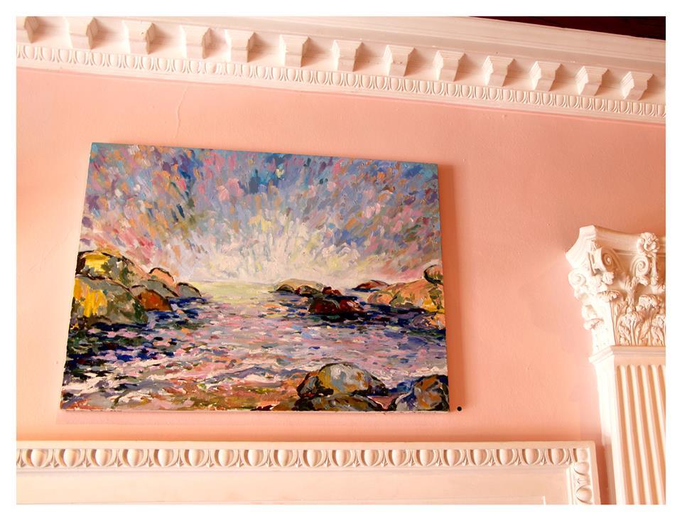 Lucie de Moyencourt    Bakoven Beach    Oil on Canvas   60 x 80cm   R11 000    SOLD