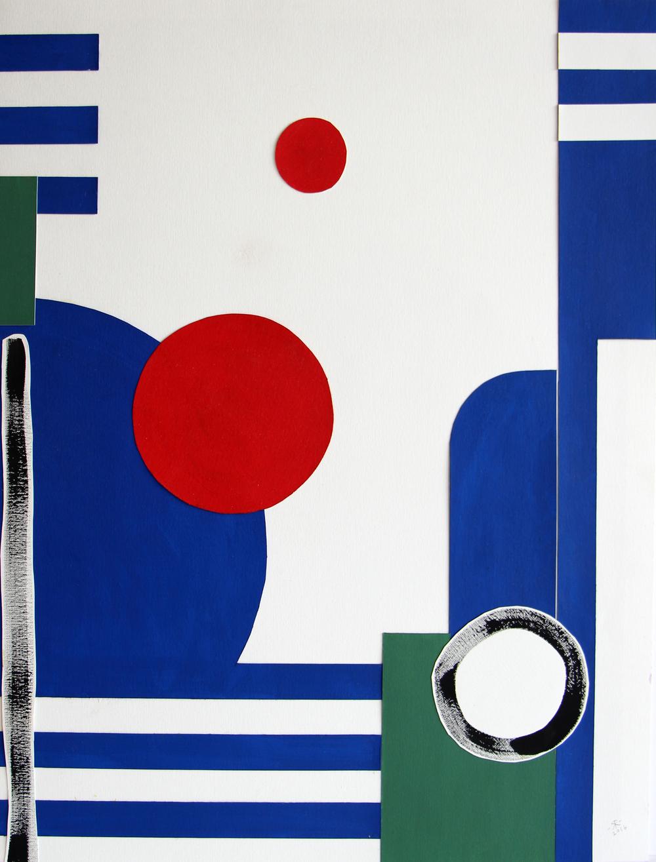Renée Rossouw  Scape III  Oil on Canvas Paper, Collage 62.5 x 47.5 cm R4 800  Sold