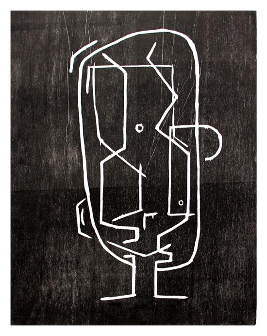Renée Rossouw  I Am a Man  I/VI Woodblock Print 53.5 x 41.5 cm R3 600