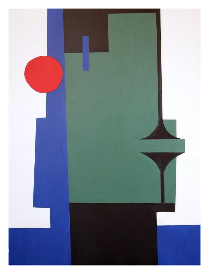 Renée Rossouw  Oupa  Oil on Canvas, Collage 65 x 50 cm R6 500  Sold
