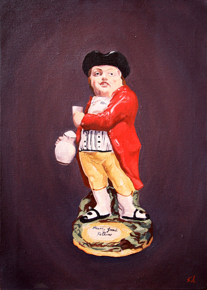 Kate Arthur  A Hearty Good Fellow  Oil on canvas  45.5 x 30.5 cm  2,800.00