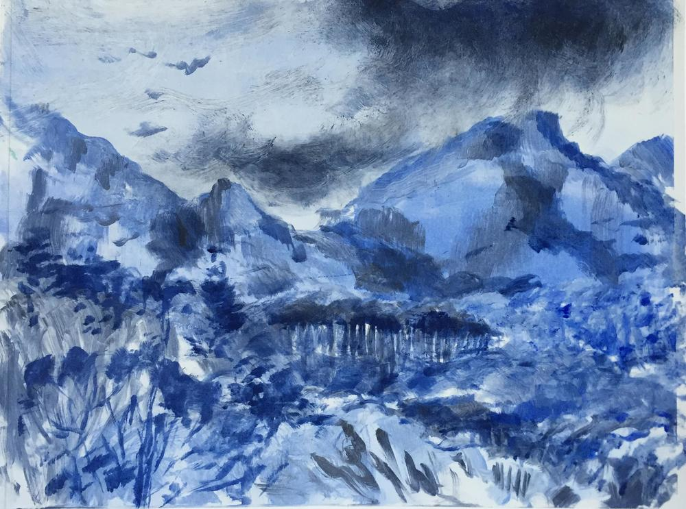 Patricia Fraser   'Newlands Afternoon #1'    Monotype   32 x 25, Framed   R3600