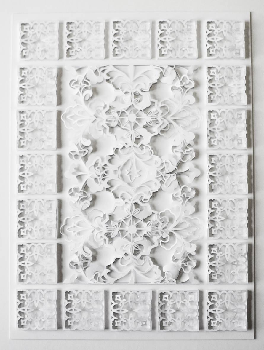 Mishkaah Amien  Arabesque  Handcut Paper Collage 45.5 x 34 cm  R 11 400
